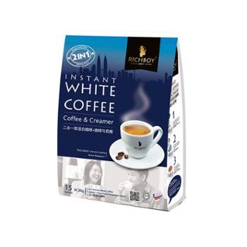 富家仔 二合一速溶白咖啡原味特浓 450g