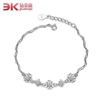 钻金森925纯银水晶手链韩版