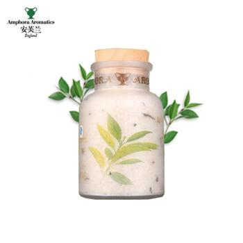 安芙兰茶树香足盐泡脚足浴盐去异味去死皮角质精油添加型420g