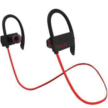 毕亚兹 运动蓝牙耳机 立体声音乐耳麦 双耳蓝牙耳机 D16黑红