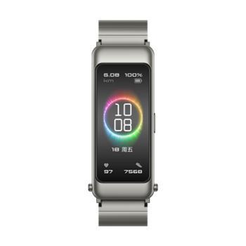 华为/HUAWEI手环B6尊享款双表带钛银灰