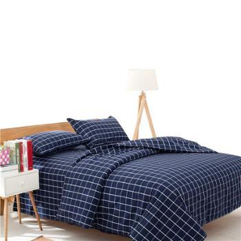 田园风纯棉老粗布三件套床单枕套手工制作