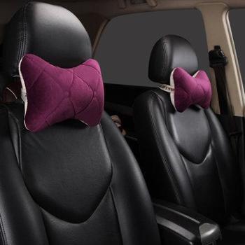 汽车头枕护颈枕一对冬季车枕头靠枕颈枕座椅腰靠卡通汽车用品内饰