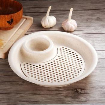 小麦创意饺子盘沥水双层盘 带醋碟水饺盘可微波炉扇形餐盘水果盘