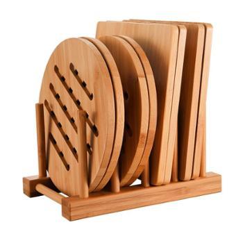 味之享 隔热垫餐桌垫耐热餐垫竹垫锅垫 菜垫子防烫餐盘垫杯垫