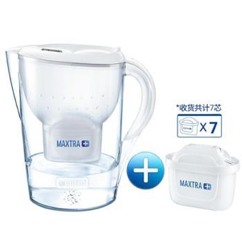 德国碧然德Brita净水壶厨房家用净水器M3.5L净水杯过滤水壶1壶7芯