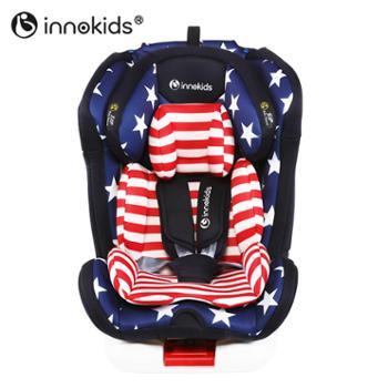 innokids儿童安全座椅汽车用0-12岁婴儿宝宝4周旋转可坐躺isofix