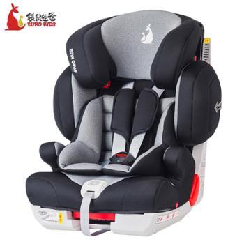 袋鼠爸爸儿童安全座椅车载汽车用9个月-12岁宝宝婴儿坐椅简易通用