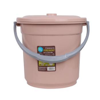 美翔储水桶塑料家用加厚手提带盖圆形提水桶宿舍大小号洗衣洗澡桶