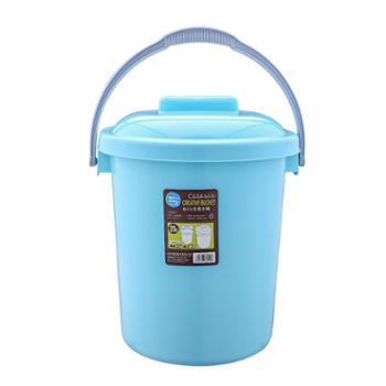 美翔水桶塑料家用加厚大号手提带盖储水大容量半方半圆洗衣洗澡桶
