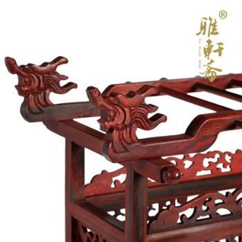 红酸枝笔架毛笔挂实木质毛笔架子红木笔挂文房四宝书法用品展示架