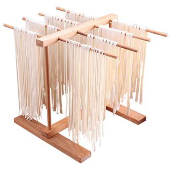拜杰家用醒面晾面架榉木制挂面架晒干面条架挂面条架子厨房小工具