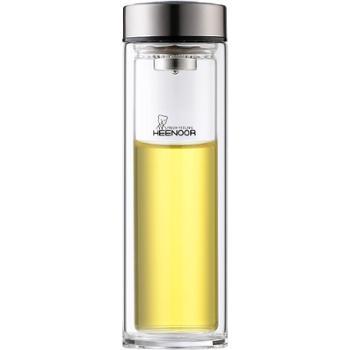 希诺双层隔热玻璃杯家用过滤喝水泡茶杯子耐热大容量便携水杯男