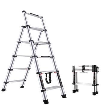 家用梯子折叠人字梯室内多功能五步梯加厚铝合金伸缩梯升降小楼梯