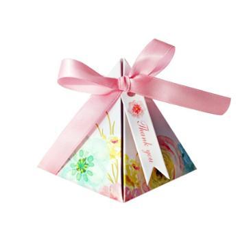 新品喜糖盒子创意欧式结婚庆用品森系婚礼糖果盒喜糖纸盒结婚糖盒