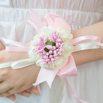 舞蹈姐妹团手腕花结婚庆用品胸花婚礼手环花新娘韩式手花伴娘腕花