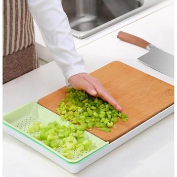 双枪多功能菜板整竹切菜板家用宝宝辅食水果塑料案板套装组合砧板