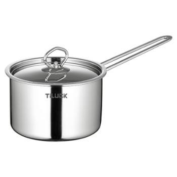 蒂洛克加厚不锈钢奶锅304不锈钢奶锅16cm煮牛奶锅德国电磁炉通用