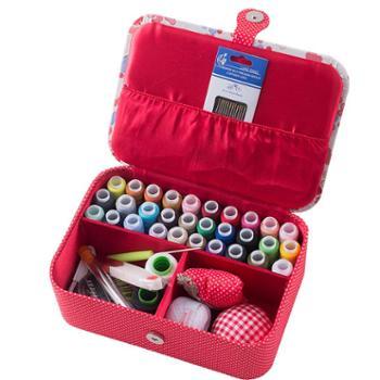 针线盒家用结婚陪嫁针线包针线套装婚庆布艺针线盒高档手缝线