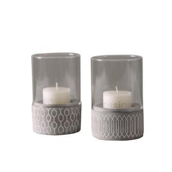 欧式现代简约小玻璃烛台蜡烛香炉摆件家居创意软装饰礼品浪漫婚庆