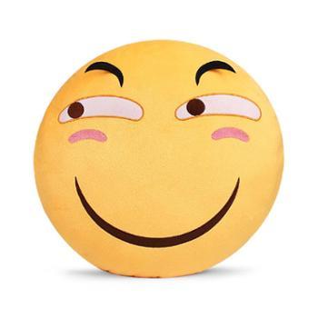 美琦动漫滑稽抱枕恶搞表情二次元周边枕头害怕微笑脸装逼毛绒瓜子
