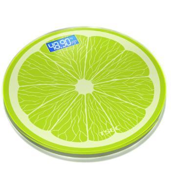 圆形电子称体重秤家用健康人体秤精准成人减肥称体重计女智能