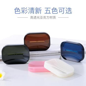 OKAplys亚克力肥皂盒浴室家用香皂盒双层沥水日本设计创意皂盒