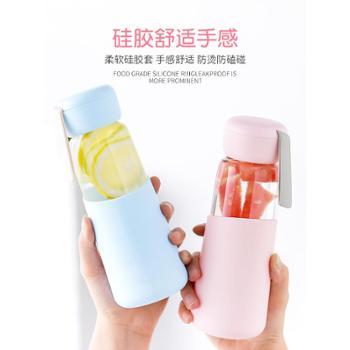 玻璃水杯子学生少女简约便携网红ins风清新可爱创意个性潮流水瓶
