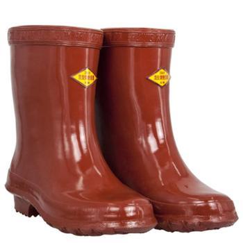天津双安牌25KV高压绝缘靴电工安全劳保鞋男绝缘鞋工作靴