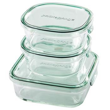 日本 iwaki怡万家耐热玻璃保鲜盒微波炉饭盒冰箱水果收纳家用