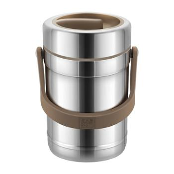 炊大皇304不锈钢保温提锅家用多层保温三层饭盒便携装