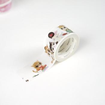 多加纸胶带 手帐创意贴纸手账素材工具diy装饰贴彩色猫居和纸胶带
