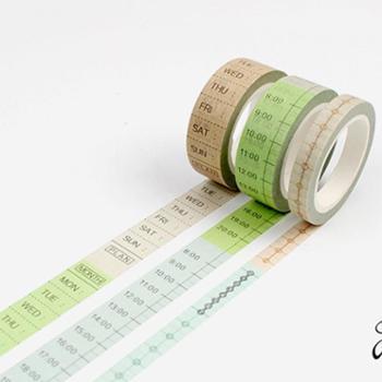 Do家 日系和纸胶带 手帐DIY配件 实用系列 周计划时间轴 DIY胶带