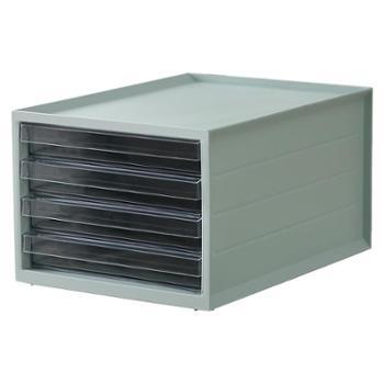桌面收纳盒抽屉式多层文件收纳盒办公室书桌置物架A4纸文具收纳盒