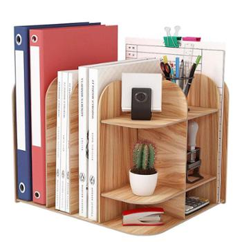 办公室桌面置物架文件夹收纳盒书立盒学生文具用品收纳箱档案资框