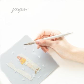 锦一 纯白手帐切割 小清新可爱美术雕刻 创意手工美工刀 学生用文具