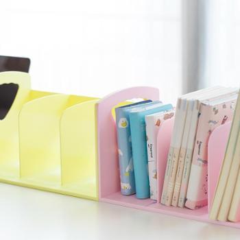 书立书架学生用收纳盒风桌面塑料文件架整理办公创意办公桌上的文件栏北欧