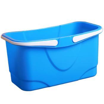 洗拖把桶长方形加厚挤水桶多功能大方桶拖地桶家用塑料手提水桶
