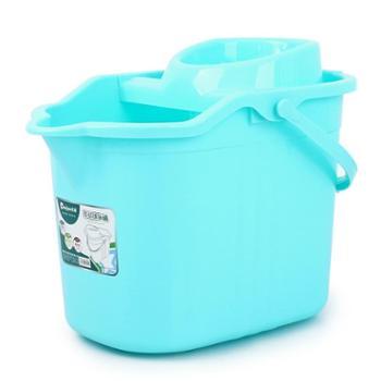 加厚手压拖把桶塑料拖把桶旋转挤水桶带滑轮拖地桶墩布拖布甩干桶