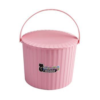 小水桶凳塑料可坐家用钓鱼桶手提洗澡篮洗衣桶玩具收纳桶有带盖