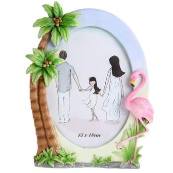 欧简约火烈鸟创意儿童像框架5寸6寸7寸洗照片加树脂相框摆台