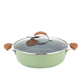 Carote瑞士麦饭石双耳煎锅不粘锅平底锅电磁炉燃气适用