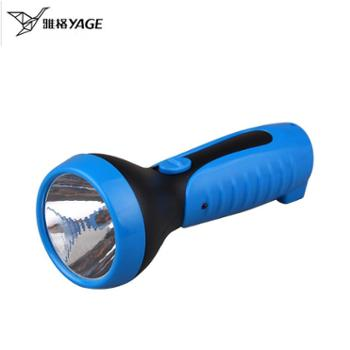 雅格LED小手电筒强光 可直插充电远射迷你便携家用