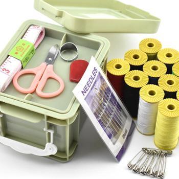 倾国倾城 家用针线盒套装多功能收纳整理盒diy缝纫工具