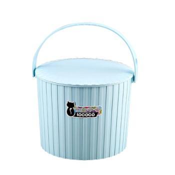 廷雪 加厚塑料家用水桶收纳储物带盖大容量