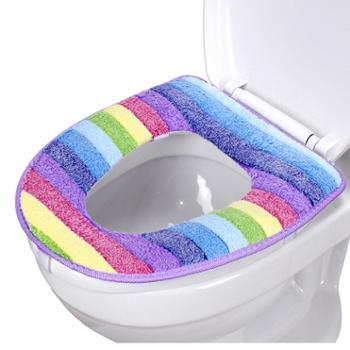明信 加厚毛绒马桶垫防水保暖垫通用坐便垫