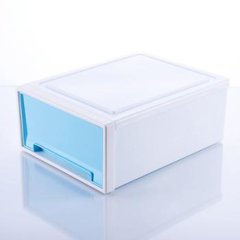 仁盛日式可叠加透明桌面塑料抽屉收纳盒