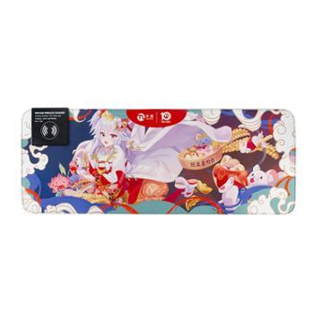宁美鼠标垫宁美十周年无线充电RGB鼠标垫