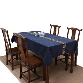 长方形圆茶几布餐桌布