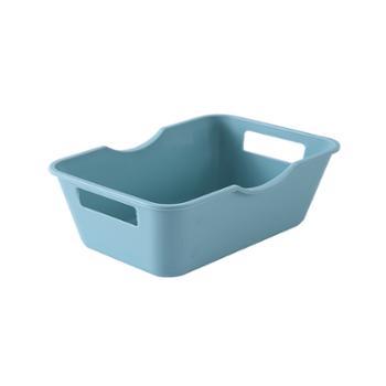 集美T1956收纳盒零食杂物收纳筐手提长方形塑料